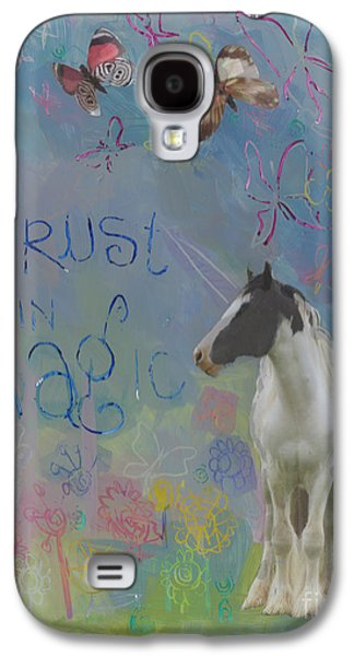 Gypsy Galaxy S4 Cases - Trust in Magic Galaxy S4 Case by Kimberly Santini
