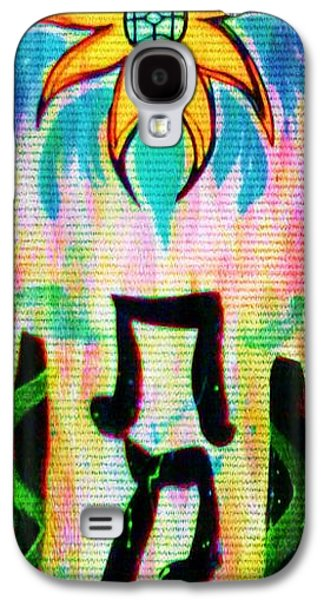 Abstract Digital Mixed Media Galaxy S4 Cases - Truth be Told Galaxy S4 Case by Alexander Ladd