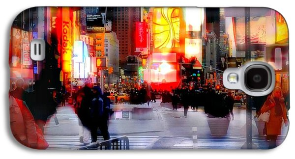 Nyc Rain Galaxy S4 Cases - TSquare Water Colors Galaxy S4 Case by Diana Angstadt