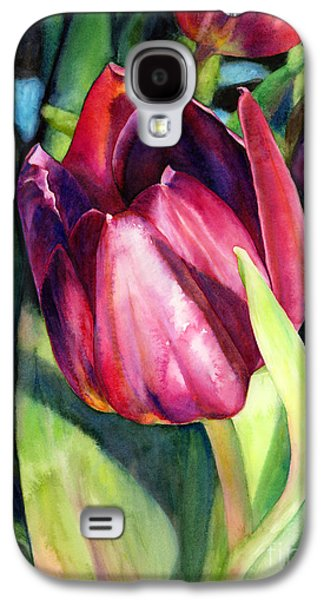 Vineyard Art Galaxy S4 Cases - Tulip Delight Galaxy S4 Case by Hailey E Herrera