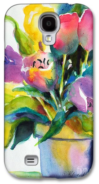 Spring Bulbs Paintings Galaxy S4 Cases - Tulip Pot Galaxy S4 Case by Kathy Braud