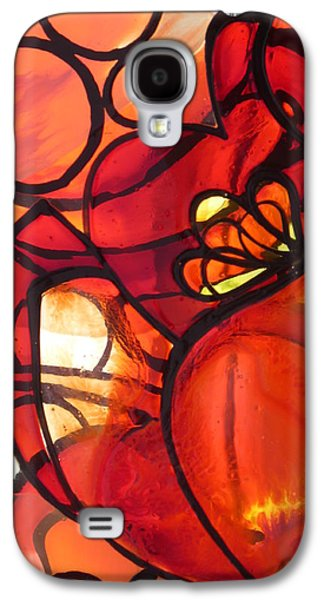 Nature Abstract Glass Art Galaxy S4 Cases - Tulip Galaxy S4 Case by Sharon Cox