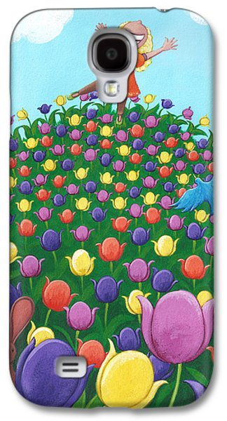 Girl Galaxy S4 Cases - Tulip Time Painting Galaxy S4 Case by Christy Beckwith