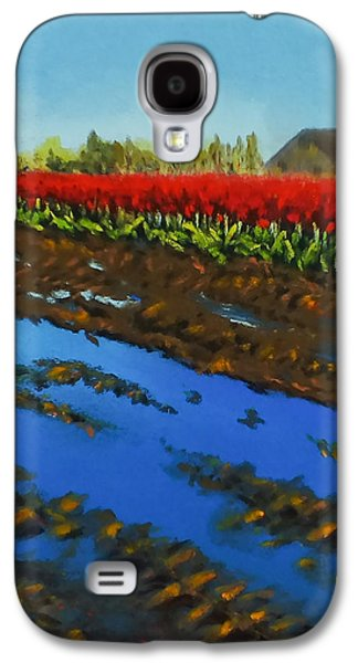 Transportation Pastels Galaxy S4 Cases - Tulip Tracks Galaxy S4 Case by Marie-Claire Dole