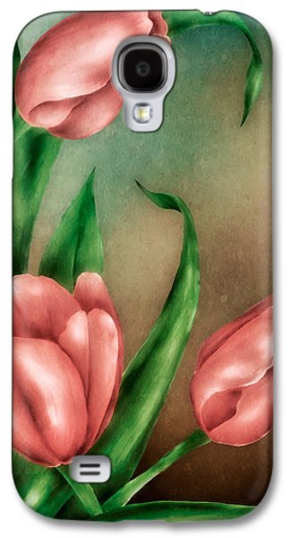 Hattiesburg Galaxy S4 Cases - Tulip Trio Galaxy S4 Case by Brenda Bryant