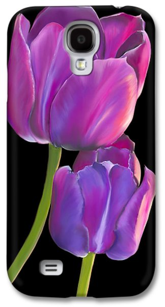 Botanical Pastels Galaxy S4 Cases - Tulips 2 Galaxy S4 Case by Laura Bell