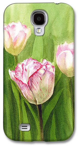 Stripes Paintings Galaxy S4 Cases - Tulips in the Fog Galaxy S4 Case by Irina Sztukowski