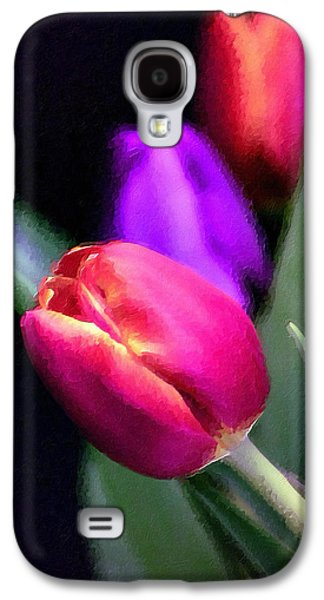 Spring Bulbs Paintings Galaxy S4 Cases - Tulips No1 Galaxy S4 Case by Bonnie Bruno
