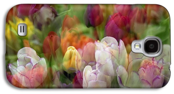 Abstract Digital Photographs Galaxy S4 Cases - Tulips Galaxy S4 Case by Penny Lisowski