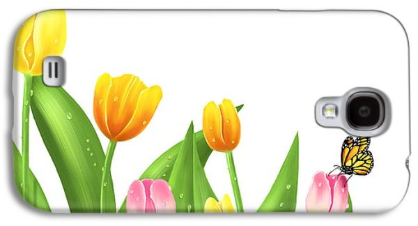 Digital Galaxy S4 Cases - Tulips Galaxy S4 Case by Veronica Minozzi