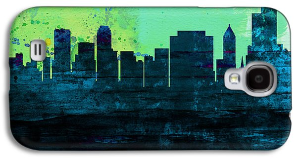 Architectural Paintings Galaxy S4 Cases - Tulsa City Skyline Galaxy S4 Case by Naxart Studio