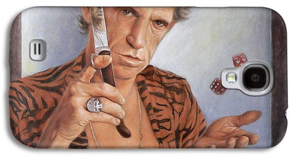 Keith Richards Galaxy S4 Cases - Tumbling dice Galaxy S4 Case by Thomas Langeveld