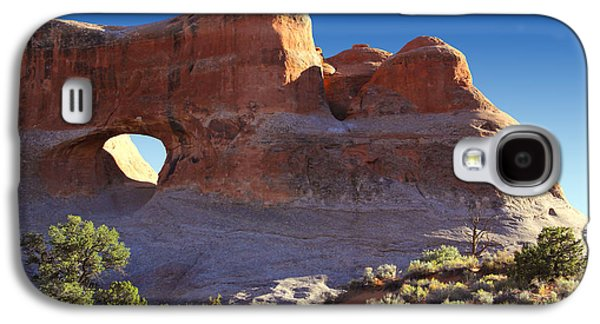 Park Scene Digital Galaxy S4 Cases - Tunnel Arch - Arches National Park Galaxy S4 Case by Mike McGlothlen