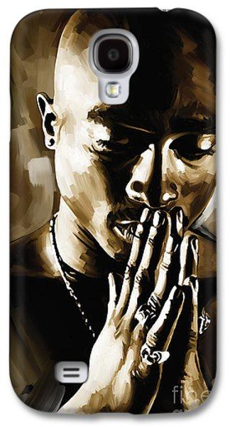Small Galaxy S4 Cases - Tupac Shakur Artwork  Galaxy S4 Case by Sheraz A