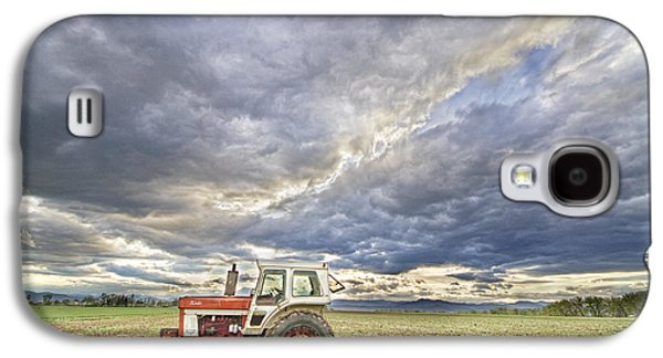Tractor Prints Galaxy S4 Cases - Turbo Tractor Country Evening Skies Galaxy S4 Case by James BO  Insogna