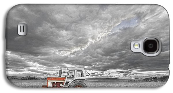 Tractor Prints Galaxy S4 Cases - Turbo Tractor Superman Country Evening Skies Galaxy S4 Case by James BO  Insogna