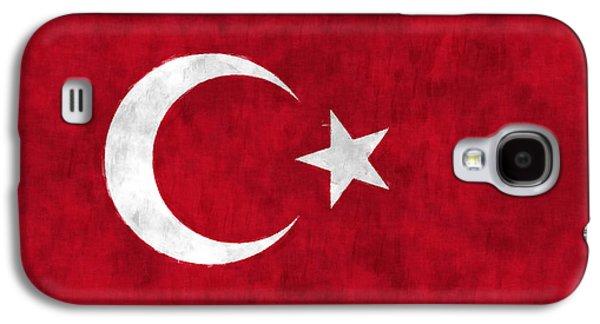 Turkey Flag Galaxy S4 Case by World Art Prints And Designs