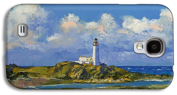 Scotland Paintings Galaxy S4 Cases - Turnberry Lighthouse Galaxy S4 Case by Michael Creese