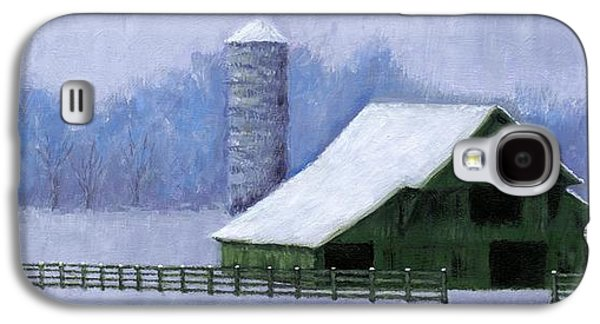 Janet King Galaxy S4 Cases - Turner Barn in Brentwood Galaxy S4 Case by Janet King