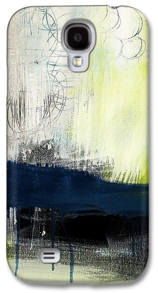 Studio Mixed Media Galaxy S4 Cases - Turning Point - contemporary abstract painting Galaxy S4 Case by Linda Woods