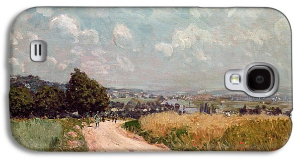 River View Paintings Galaxy S4 Cases - Turning Road Galaxy S4 Case by Alfred Sisley