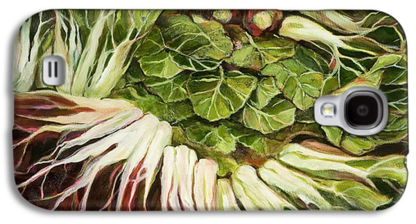 Swiss Paintings Galaxy S4 Cases - Turnip and Chard Concerto Galaxy S4 Case by Jen Norton