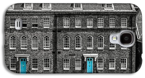 Turquoise Doors At Tower Of London's Old Hospital Block Galaxy S4 Case by James Udall