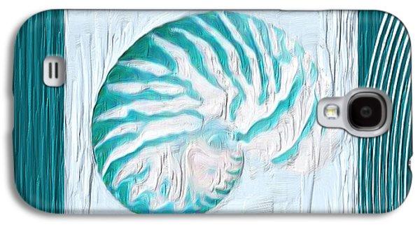 Turquoise Seashells Xxi Galaxy S4 Case by Lourry Legarde