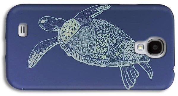 Reptiles Drawings Galaxy S4 Cases - Turtle Galaxy S4 Case by Debbie McIntyre