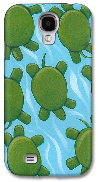 Reptiles Drawings Galaxy S4 Cases - Turtle Nursery Art Galaxy S4 Case by Christy Beckwith