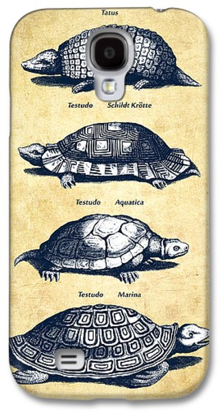 Reptiles Digital Galaxy S4 Cases - Turtles - Historiae Naturalis - 1657 - Vintage Galaxy S4 Case by Aged Pixel