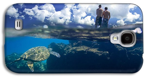 Ocean Art Photography Galaxy S4 Cases - Turtles View Galaxy S4 Case by Sean Davey
