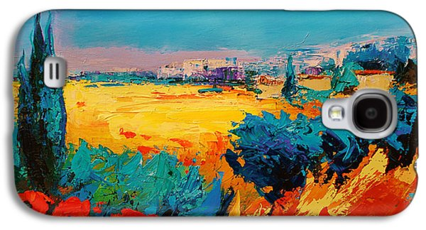 Tuscan Sunset Paintings Galaxy S4 Cases - Tuscan Beauty Galaxy S4 Case by Elise Palmigiani