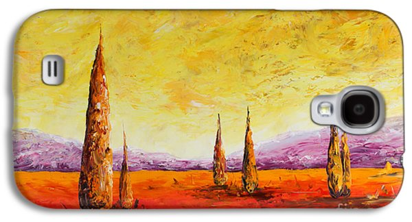 French Open Paintings Galaxy S4 Cases - Tuscan Blast Galaxy S4 Case by Andrew Sanan