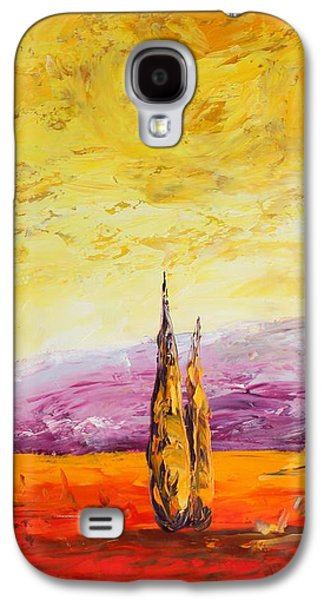 French Open Paintings Galaxy S4 Cases - Tuscan Blast Crop Galaxy S4 Case by Andrew Sanan