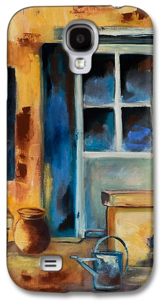 Pottery Paintings Galaxy S4 Cases - Tuscan Courtyard Galaxy S4 Case by Elise Palmigiani