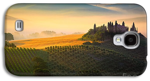Landscapes Photographs Galaxy S4 Cases - Tuscan Dawn Galaxy S4 Case by Inge Johnsson