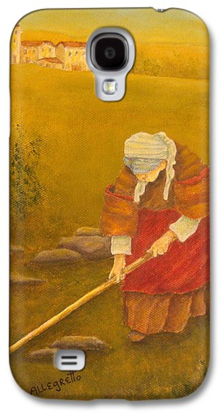 Tuscan Farmhouse At Sunset Galaxy S4 Case by Pamela Allegretto