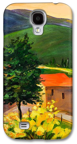 Countryside Paintings Galaxy S4 Cases - Tuscan hills Galaxy S4 Case by Elise Palmigiani
