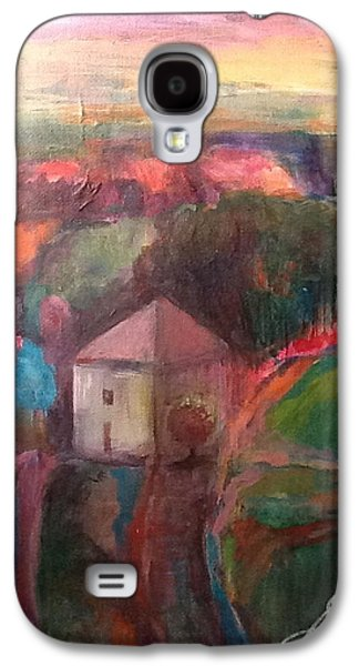 Tuscan Sunset Paintings Galaxy S4 Cases - Tuscan Road Galaxy S4 Case by Susan Voigt