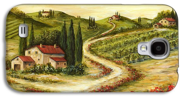 Tuscan Road With Poppies Galaxy S4 Case by Marilyn Dunlap
