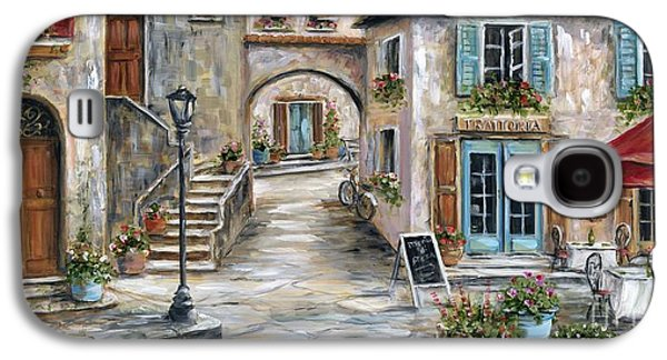 Chair Galaxy S4 Cases - Tuscan Street Scene Galaxy S4 Case by Marilyn Dunlap