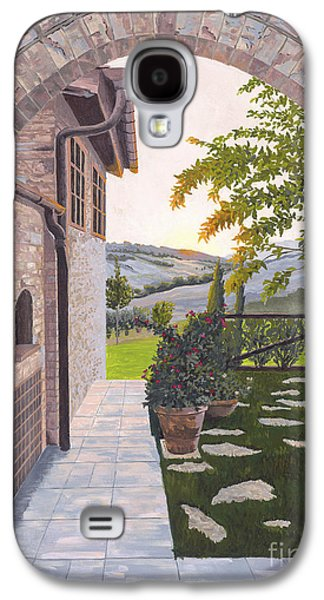 Tuscan Sunset Paintings Galaxy S4 Cases - Tuscan Sunset Galaxy S4 Case by Jane Frendberg
