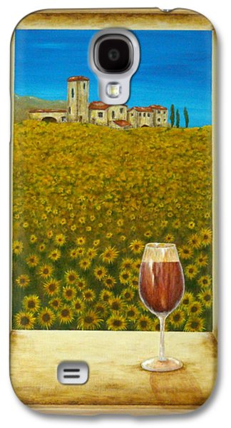 Wine Scene Galaxy S4 Cases - Tuscan View Galaxy S4 Case by Pamela Allegretto