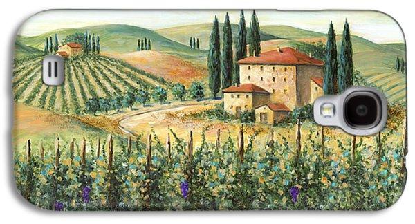 Tuscan Vineyard And Villa Galaxy S4 Case by Marilyn Dunlap
