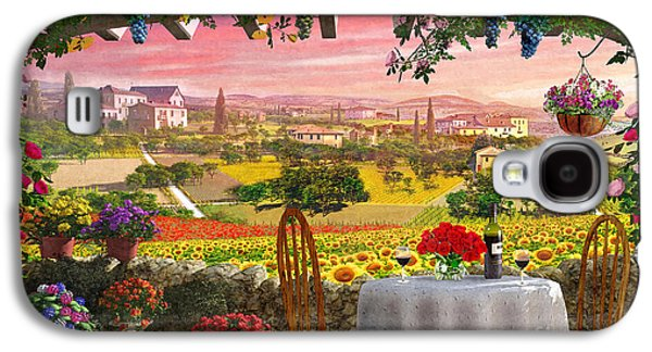 Tuscan Hills Galaxy S4 Cases - Tuscany Hills Galaxy S4 Case by Dominic Davison