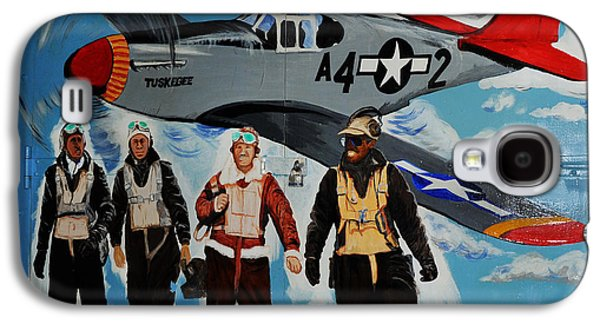 P51 Photographs Galaxy S4 Cases - Tuskegee Airmen Galaxy S4 Case by Leon Hollins III