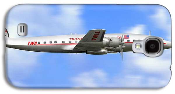 Airliner Galaxy S4 Cases - TWA Constellation Airliner Galaxy S4 Case by Mike McGlothlen