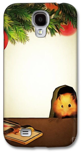 Mouse Digital Art Galaxy S4 Cases - Twas The Night Before Christmas 20140919brunaille Galaxy S4 Case by Wingsdomain Art and Photography