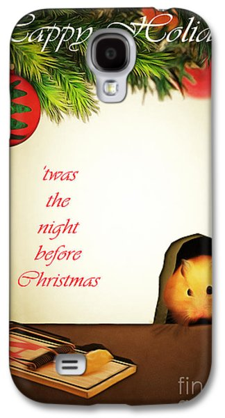 Mouse Digital Art Galaxy S4 Cases - Twas The Night Before Christmas 20140919brunaille with text Galaxy S4 Case by Wingsdomain Art and Photography